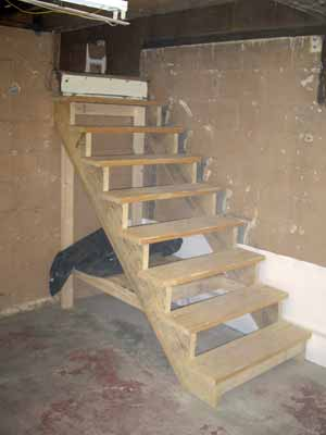 Superior New Basment Stairs. Our New Basement Stairs