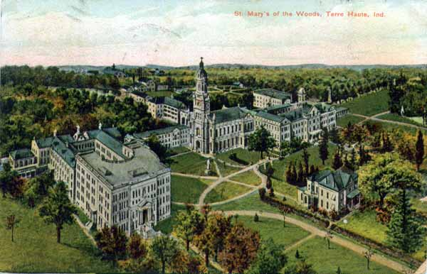 Saint Mary Of The Woods >> Terre Haute Postcards St Mary Of The Woods College 2