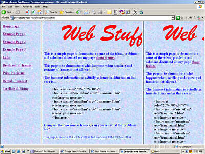Problems with HTML Frames - Page 2